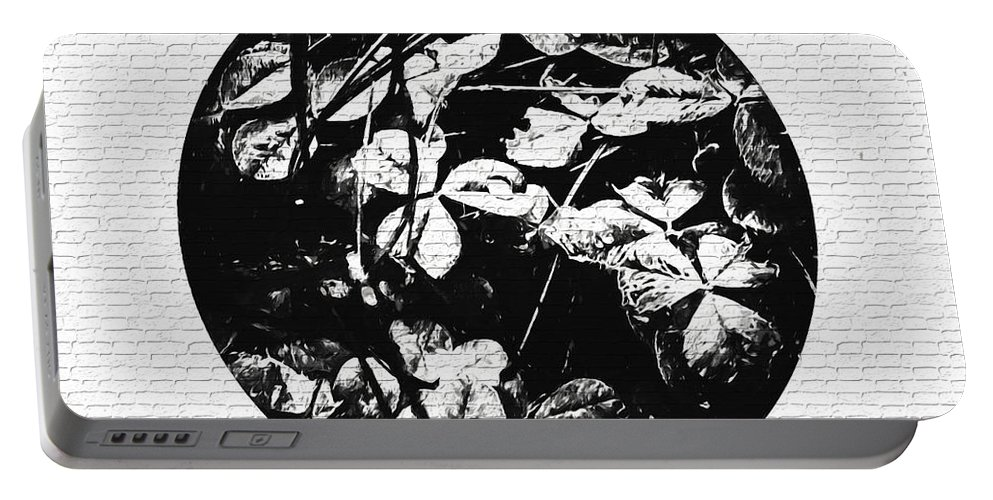 Photography Portable Battery Charger featuring the mixed media Gails Rain Drops On Clover by Debra Lynch