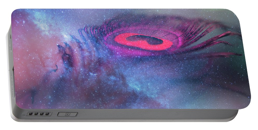 Jenny Rainbow Fine Art Photography Portable Battery Charger featuring the photograph Galactic Eye by Jenny Rainbow