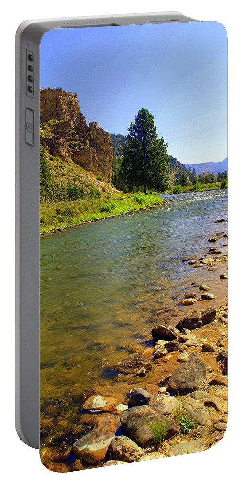 Gallitan River Portable Battery Charger featuring the photograph Gallitan River 1 by Marty Koch