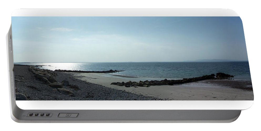 Irish Portable Battery Charger featuring the photograph Galway Bay At Salt Hill Park Galway Ireland by Teresa Mucha