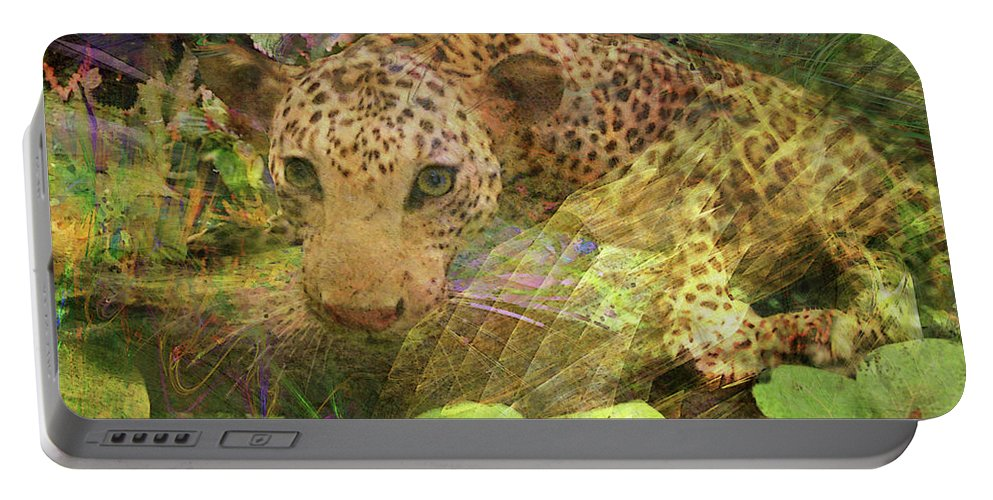 Game Spotting Portable Battery Charger featuring the digital art Game Spotting by John Beck