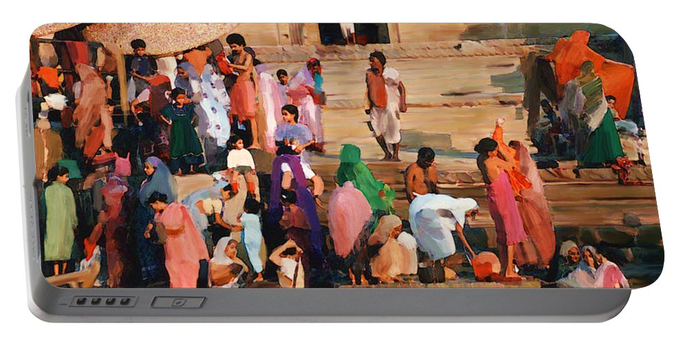 Ganges River Portable Battery Charger featuring the photograph Ganges by Kurt Van Wagner