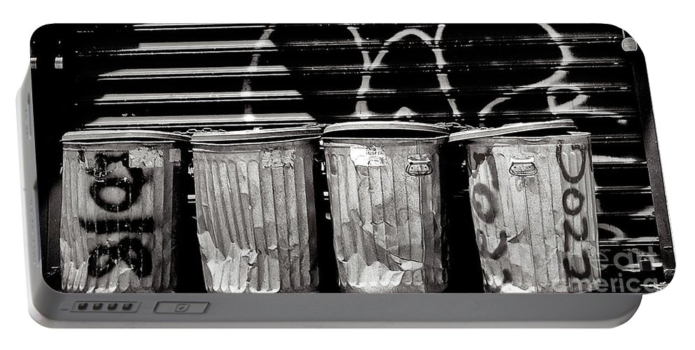 Garbage Portable Battery Charger featuring the photograph Garbage by Madeline Ellis