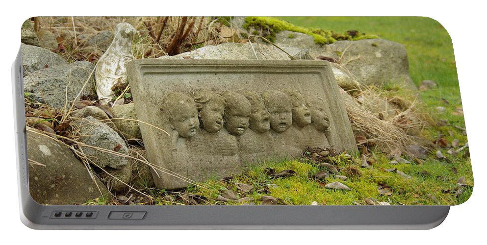 Garden Portable Battery Charger featuring the photograph Garden Babies II by Cindy Johnston