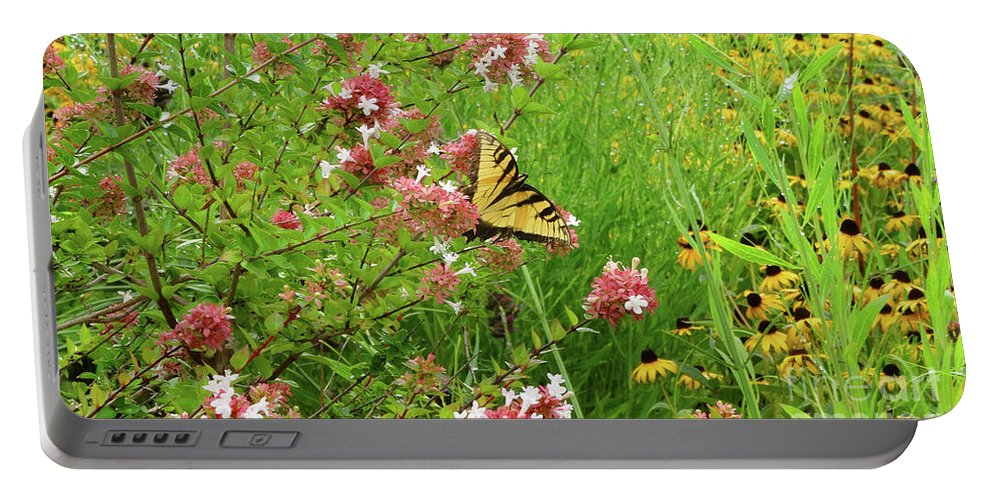 Garden Portable Battery Charger featuring the photograph Garden Butterfly by Eunice Warfel