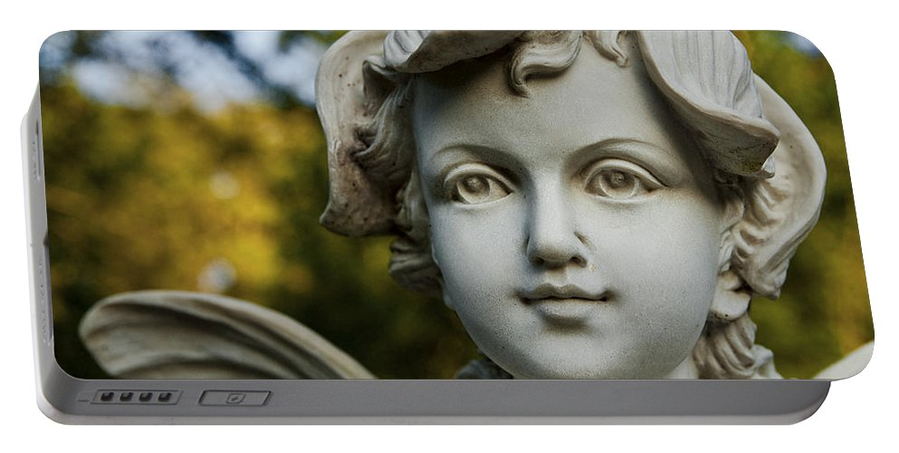 Garden Portable Battery Charger featuring the photograph Garden Fairy by Christopher Holmes