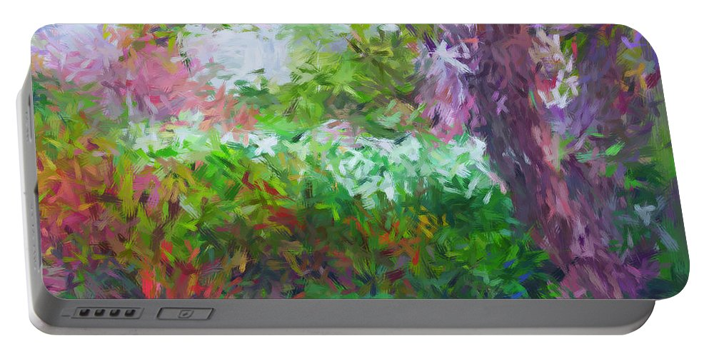 Impression Portable Battery Charger featuring the photograph Garden Of Joy by Don Zawadiwsky