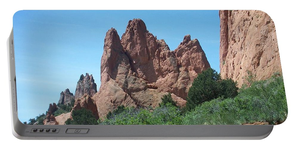 Colorado Portable Battery Charger featuring the photograph Garden Of The Gods 2 by Anita Burgermeister