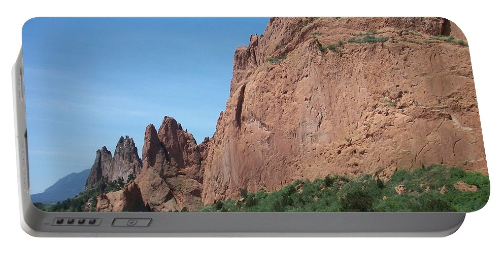 Colorado Portable Battery Charger featuring the photograph Garden Of The Gods by Anita Burgermeister