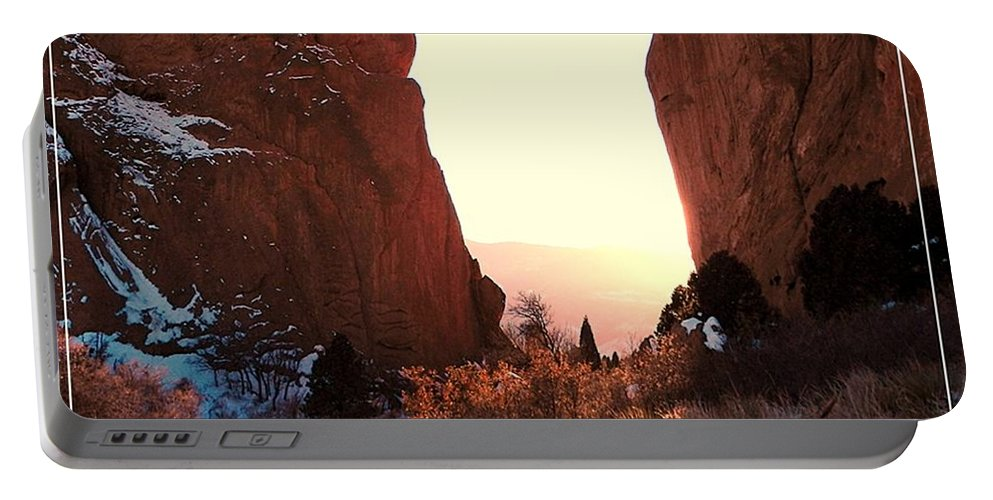 Garden Portable Battery Charger featuring the photograph Garden Of The Gods by Elizabeth Mix