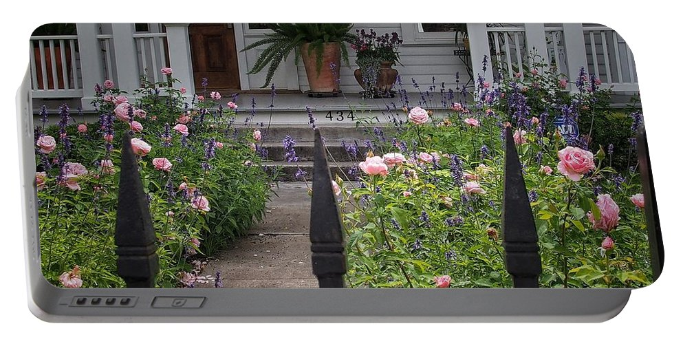 Path Portable Battery Charger featuring the photograph Garden Path by Buck Buchanan