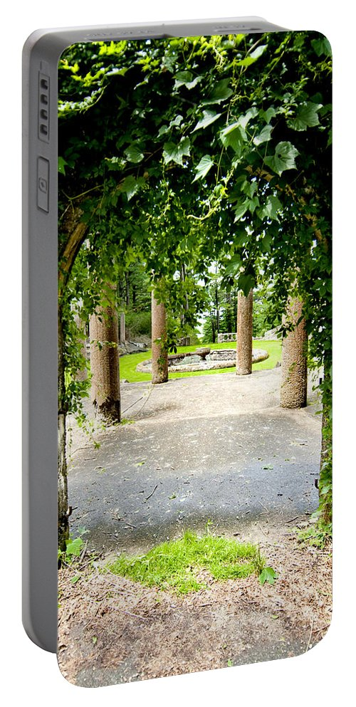 Garden Portable Battery Charger featuring the photograph Garden Ruins by Greg Fortier
