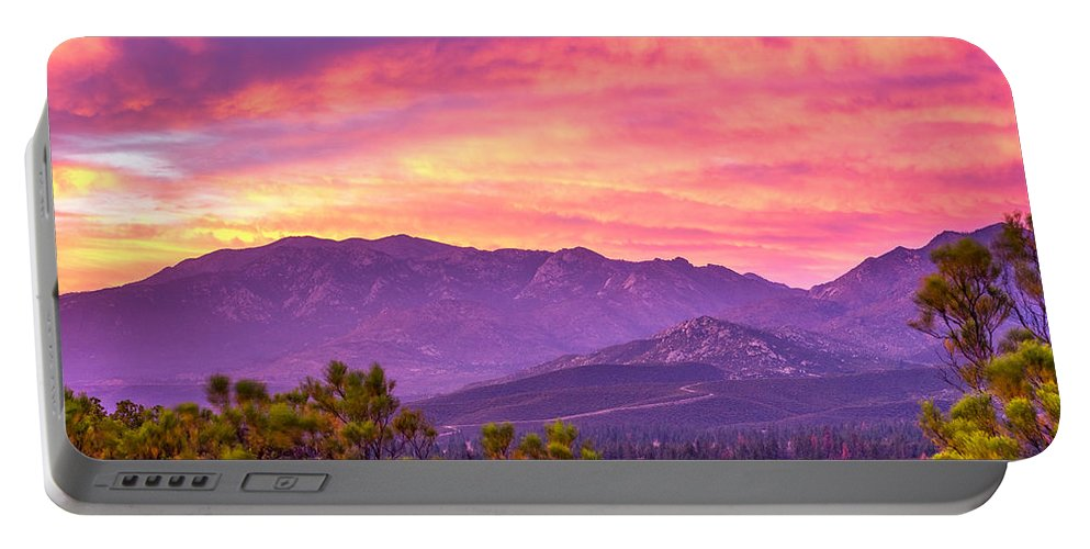 Garner Portable Battery Charger featuring the photograph Garner Valley Sunset by Simon Velazquez