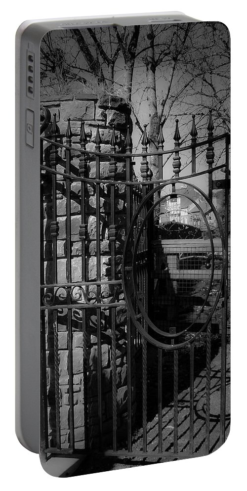 Irish Portable Battery Charger featuring the photograph Gate In Macroom Ireland by Teresa Mucha