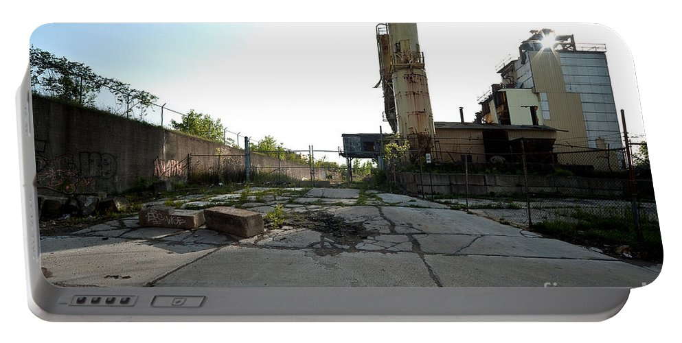 Detroit Portable Battery Charger featuring the photograph Gate Is Locked by Steven Dunn