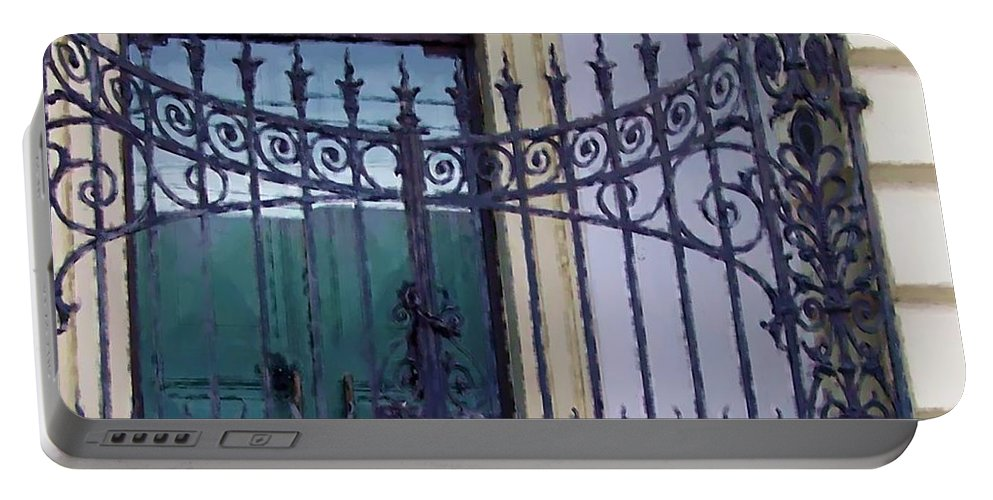 Gate Portable Battery Charger featuring the photograph Gated by Debbi Granruth
