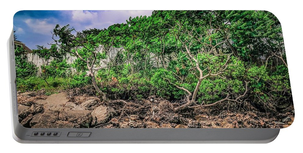 Bushes And Trees Portable Battery Charger featuring the photograph Gathering Storm by Mark Sellers