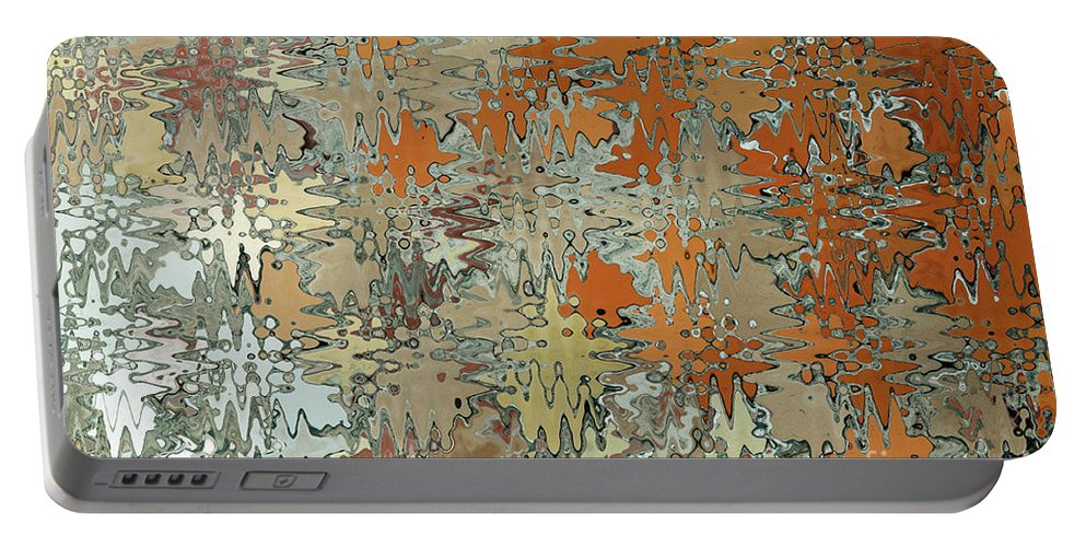 Abstract Portable Battery Charger featuring the digital art Gaudi Mozaic Abstraction by John Gaffen
