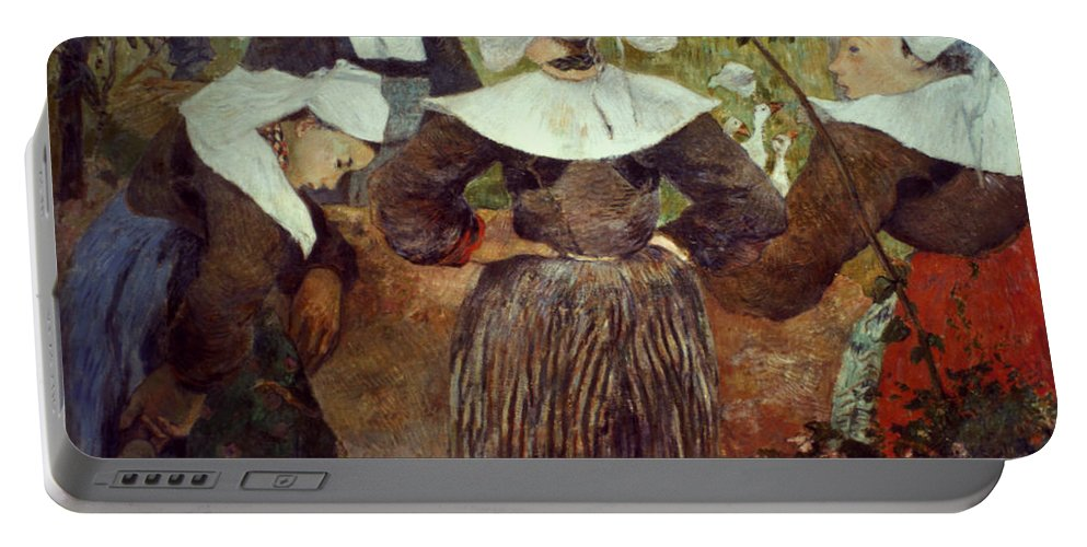 1886 Portable Battery Charger featuring the photograph Gauguin: Breton Women by Granger