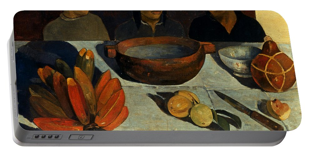 1891 Portable Battery Charger featuring the photograph Gauguin: Meal, 1891 by Granger