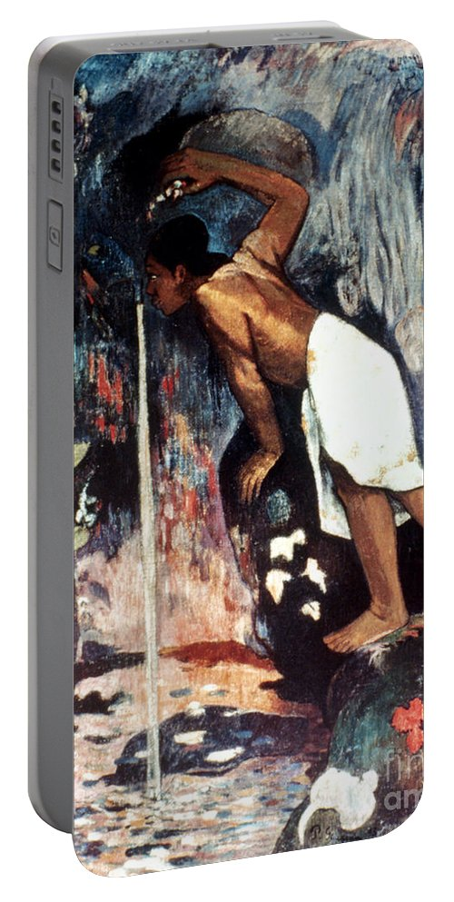1893 Portable Battery Charger featuring the photograph Gauguin: Pape Moe, 1892 by Granger