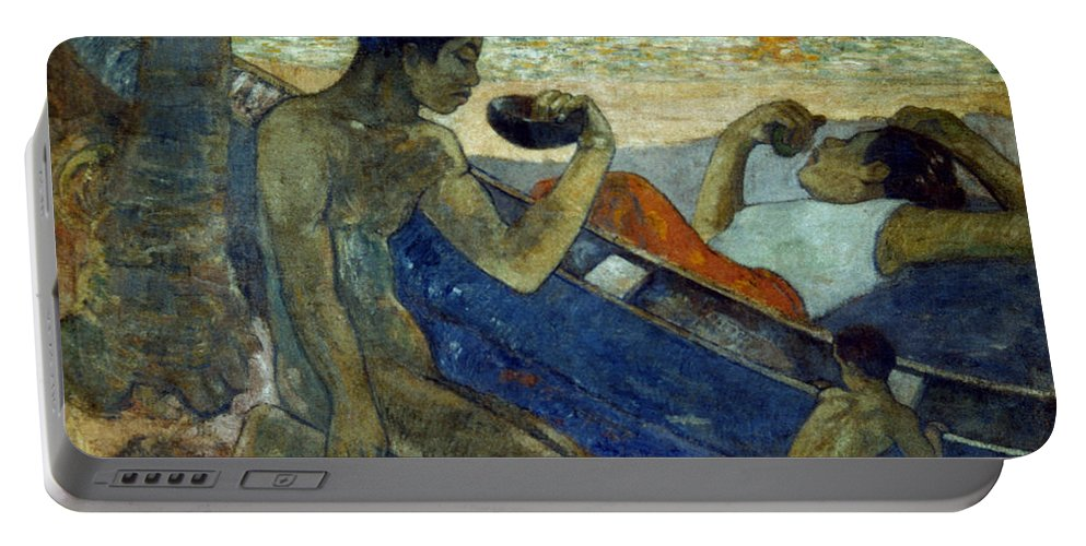 19th Century Portable Battery Charger featuring the photograph Gauguin: Pirogue, 19th C by Granger