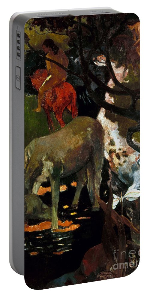 1898 Portable Battery Charger featuring the photograph Gauguin: White Horse, 1898 by Granger
