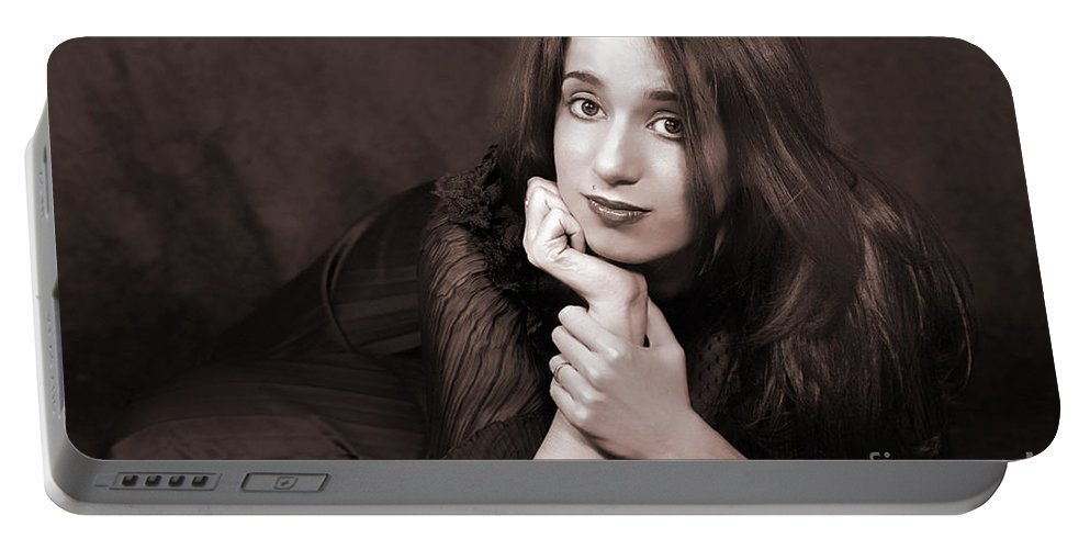 Clay Portable Battery Charger featuring the photograph Gaze by Clayton Bruster