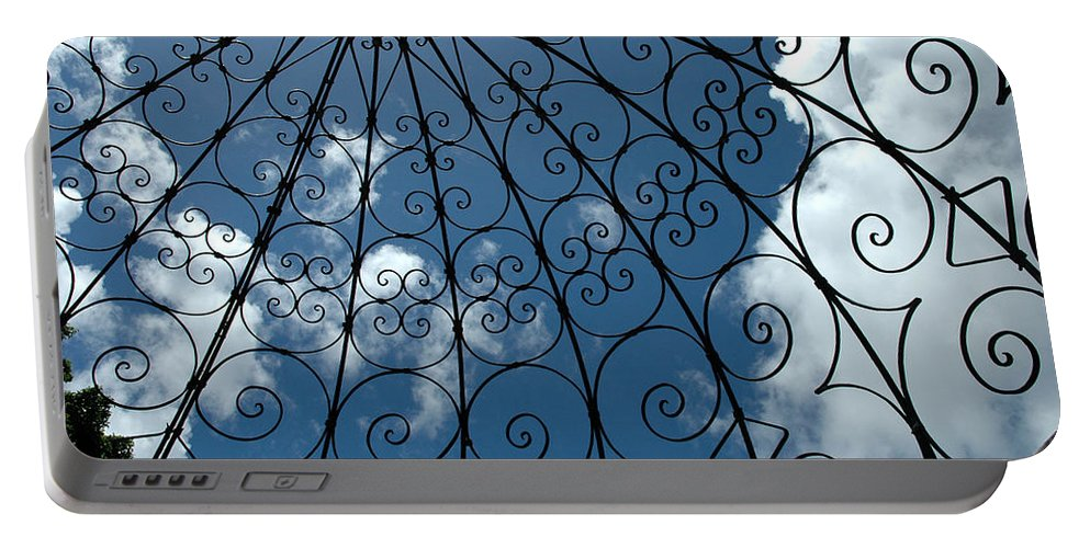 Gazebo Portable Battery Charger featuring the photograph Gazebo Blue Sky by Susanne Van Hulst