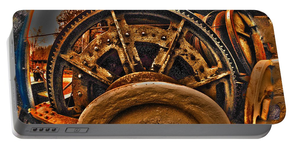 Clay Portable Battery Charger featuring the photograph Gears Gone Mad by Clayton Bruster