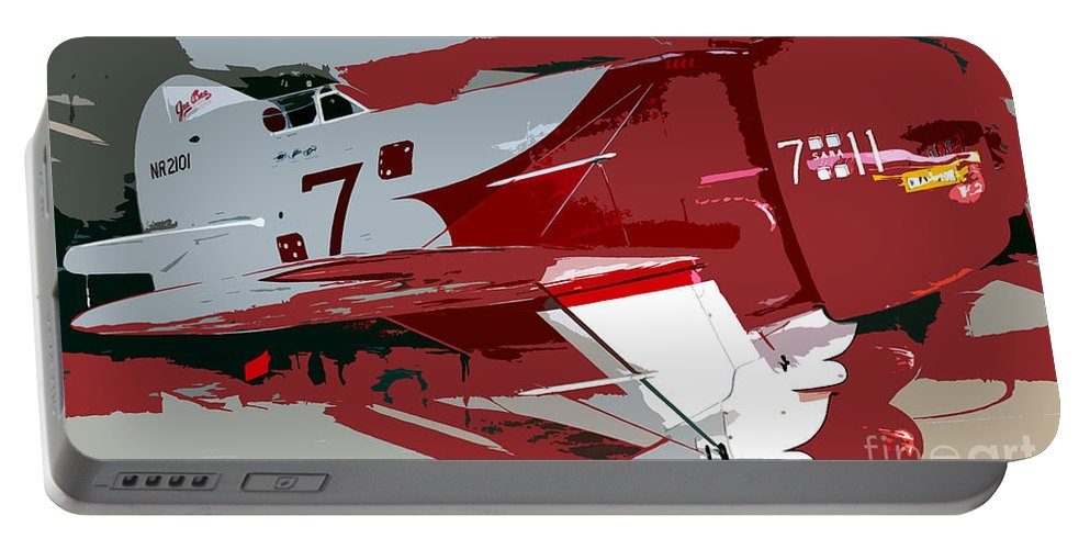 Gee Bee Racer Portable Battery Charger featuring the painting Gee Bee Racer by David Lee Thompson