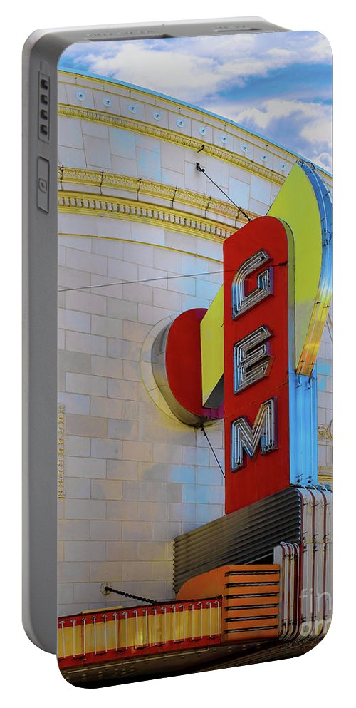 Gem Theater Portable Battery Charger featuring the photograph Gem Theater by L Wright