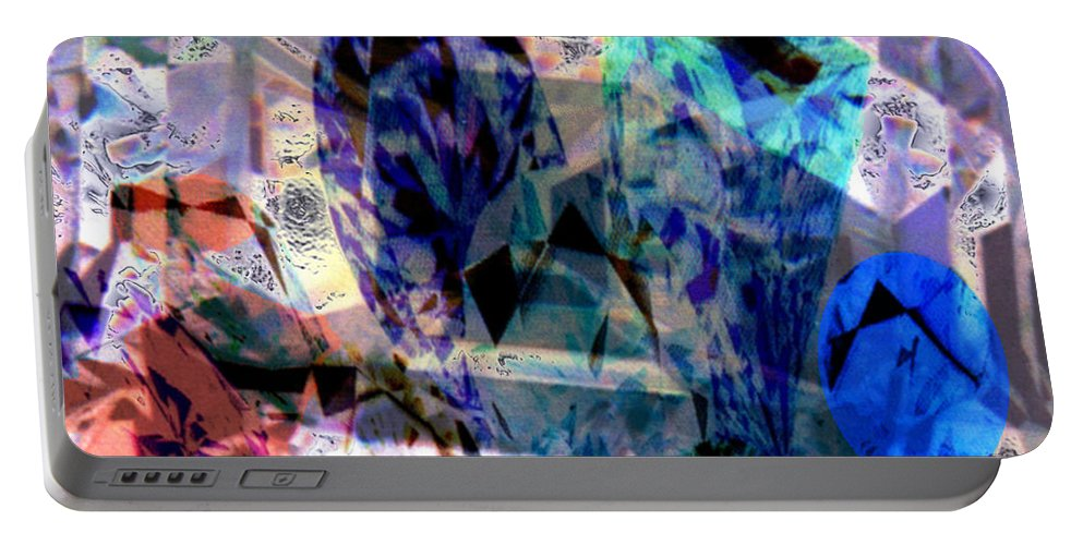 Abstract Portable Battery Charger featuring the photograph Gems Of Ice by Seth Weaver