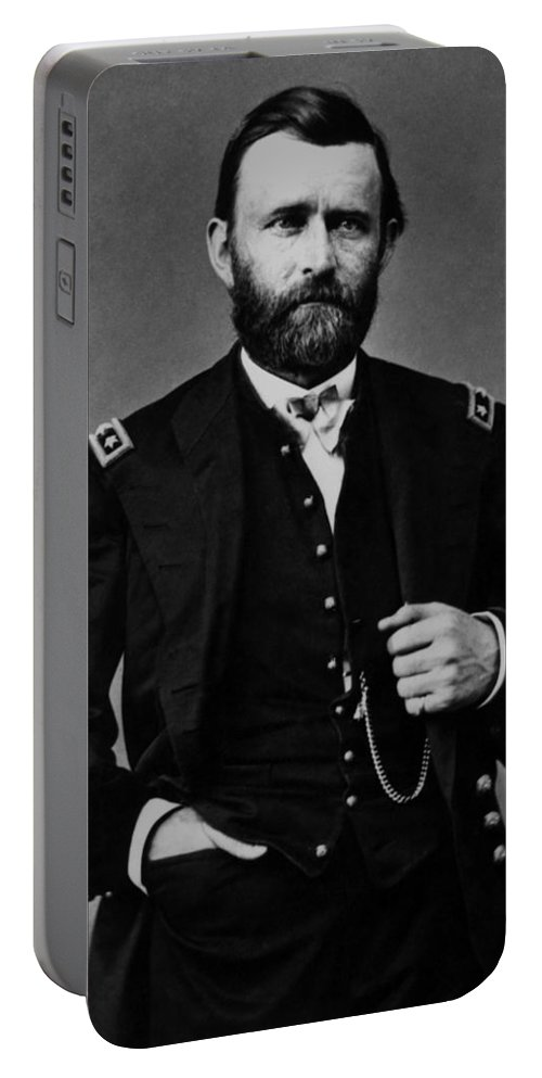 Ulysses Grant Portable Battery Charger featuring the photograph General Grant During The Civil War by War Is Hell Store