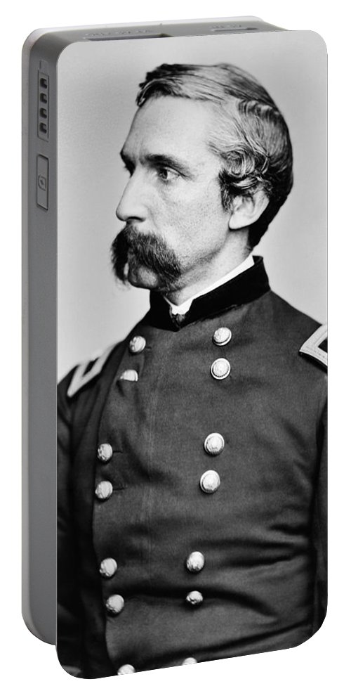 Joshua Lawrence Chamberlain Portable Battery Charger featuring the photograph General Joshua Chamberlain by War Is Hell Store
