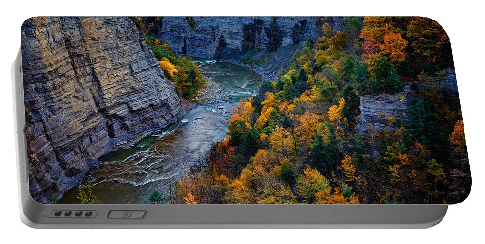 Autumn Portable Battery Charger featuring the photograph Genesee River Gorge II by Rick Berk