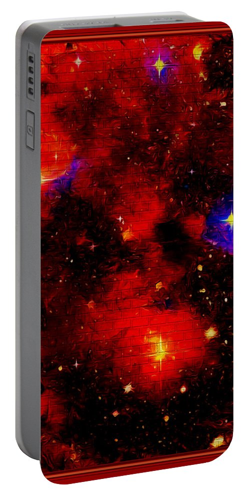 Abstract Portable Battery Charger featuring the digital art Genesis In The Beginning by Debra Lynch