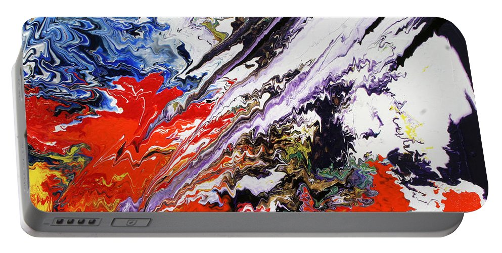 Fusionart Portable Battery Charger featuring the painting Genesis by Ralph White