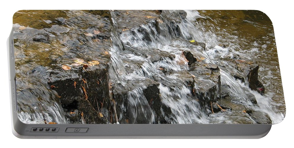 Waterfall Portable Battery Charger featuring the photograph Gentle Falls by Kelly Mezzapelle