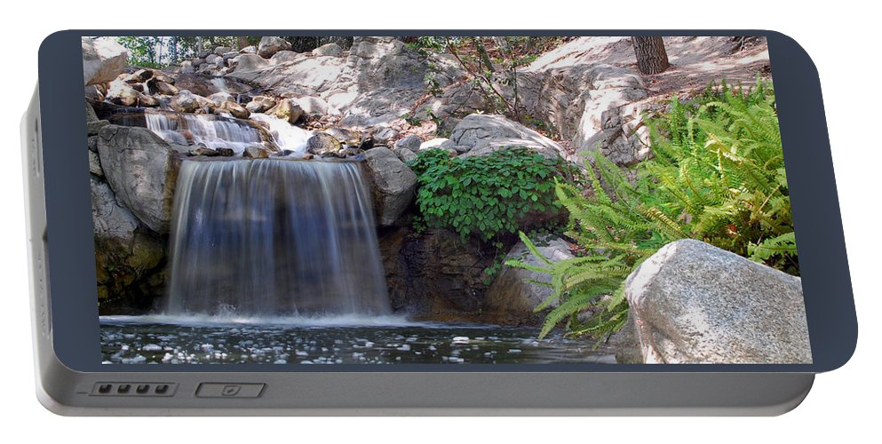 Water Portable Battery Charger featuring the photograph Gentle Waterfall by Amy Fose
