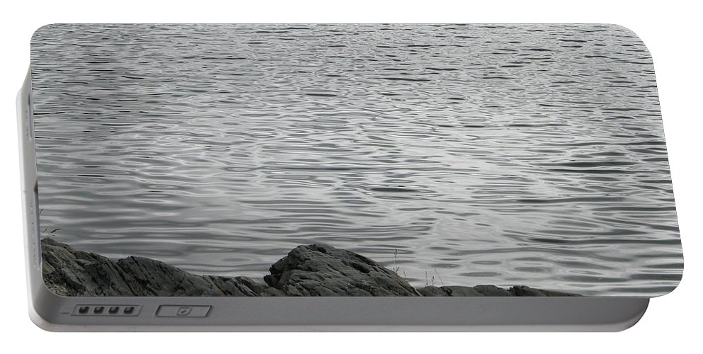 Water Portable Battery Charger featuring the photograph Gentle Waters by Kelly Mezzapelle