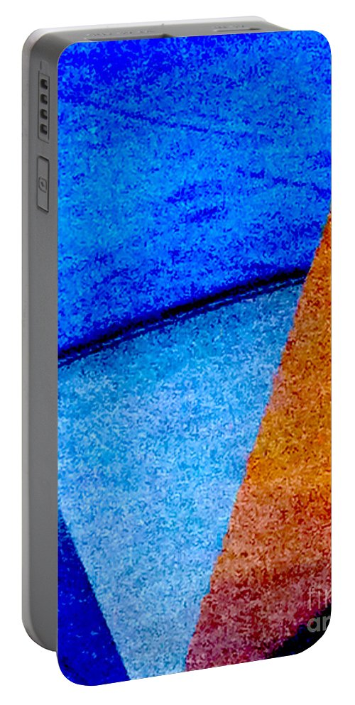 Abstract Portable Battery Charger featuring the photograph Geometric 2b Abstract by Ken Lerner