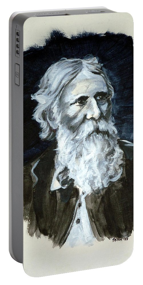 George Macdonald Portable Battery Charger featuring the painting George Macdonald by Bryan Bustard