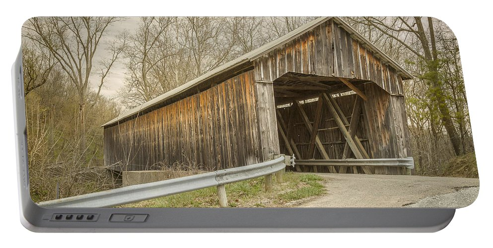 America Portable Battery Charger featuring the photograph George Miller Covered Bridge by Jack R Perry