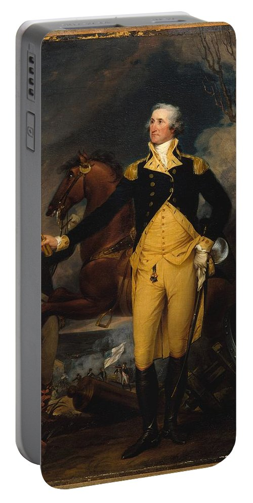 George Washington Before The Battle Of Trenton Portable Battery Charger featuring the painting George Washington Before The Battle by John Trumbull