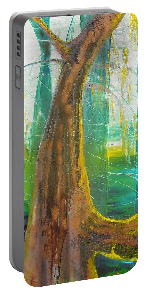 Landscape Portable Battery Charger featuring the painting Georgia Morning by Peggy Blood