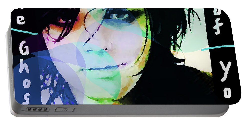 My Chemical Romance.gerard Way Portable Battery Charger featuring the mixed media Gerard Way My Chemical Romance by Enki Art