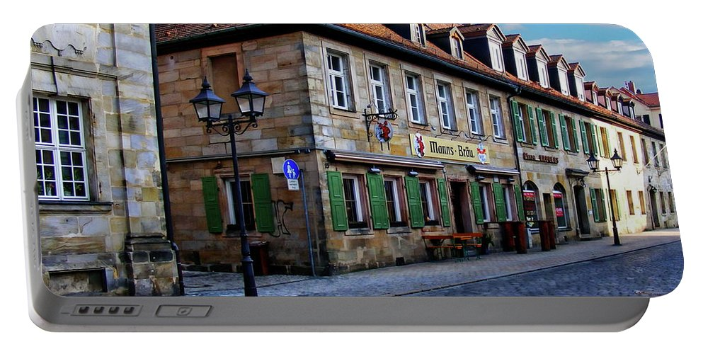 Street Portable Battery Charger featuring the photograph German Street Scene by Anthony Dezenzio
