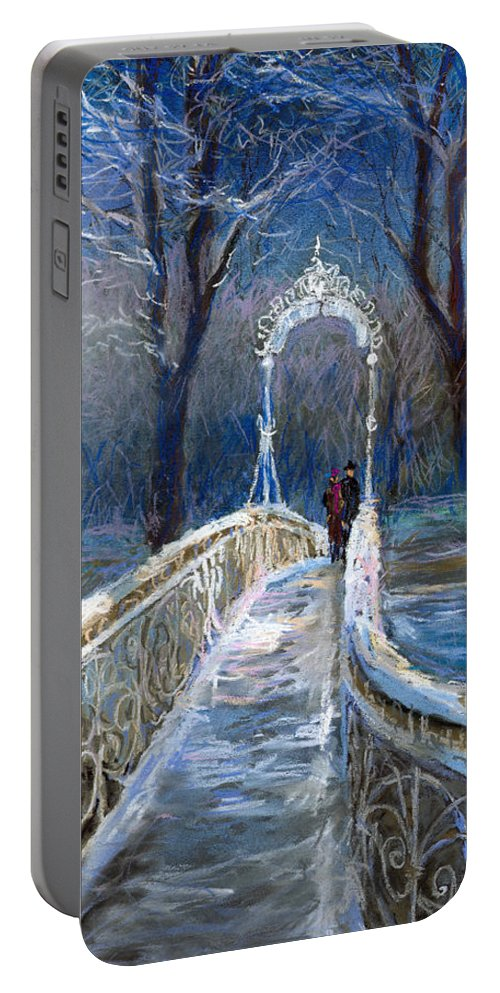 Pastel Portable Battery Charger featuring the painting Germany Baden-baden 02 by Yuriy Shevchuk