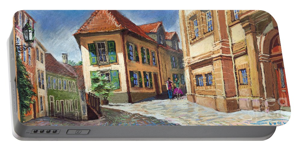 Pastel Portable Battery Charger featuring the painting Germany Baden-baden 04 by Yuriy Shevchuk